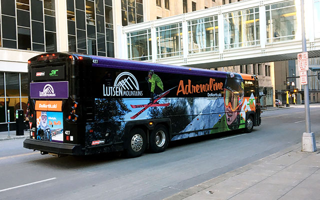 bus wrap advertising in the Twin Cities