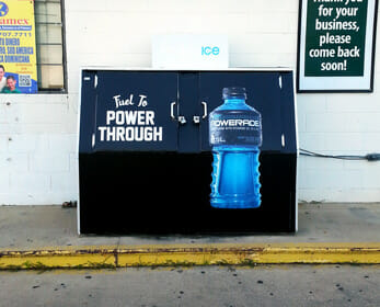 Gas Station Ice Box Advertising | Ice Box Wrap | All Over Media