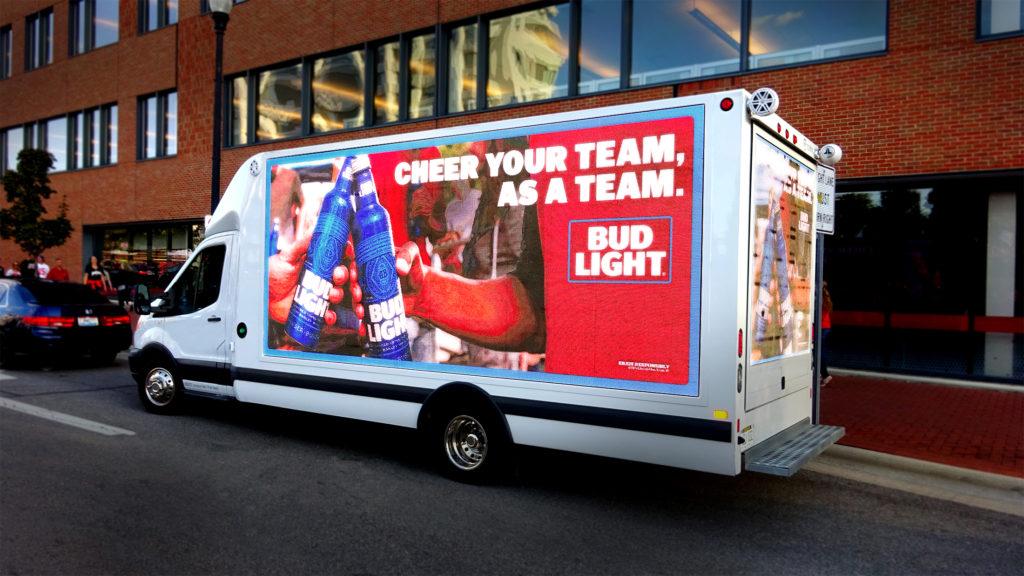 Digital Mobile Billboard truck in city