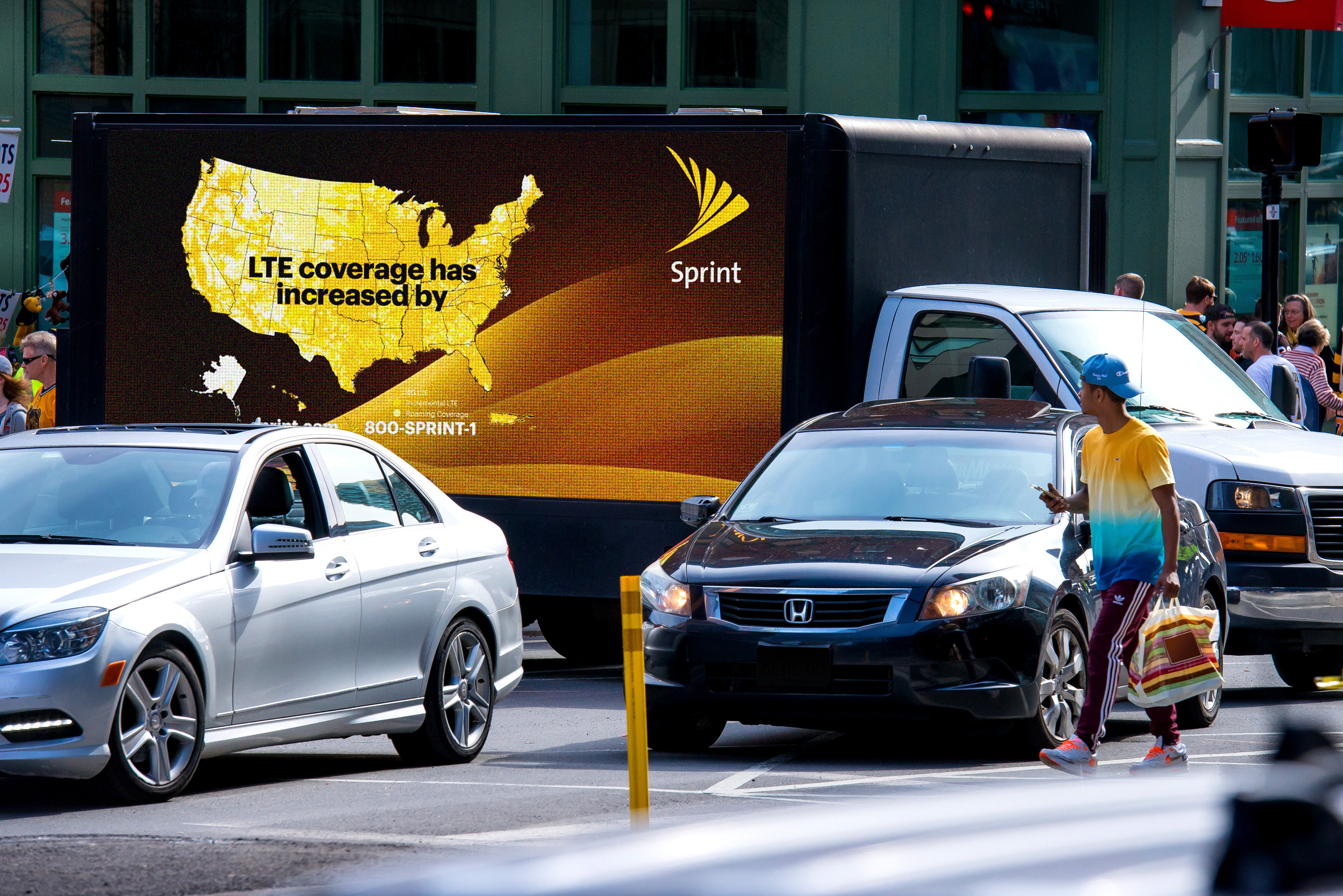 Sprint Digital Truck Advertising